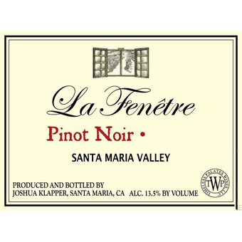 2012 la fenetre pinot noir santa maria valley wine library for La fenetre winery