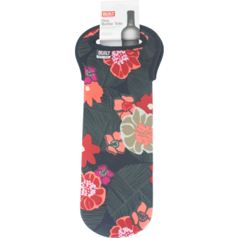 Bottle shot for  Built 1 Bottle Wine Tote Poppy Floral