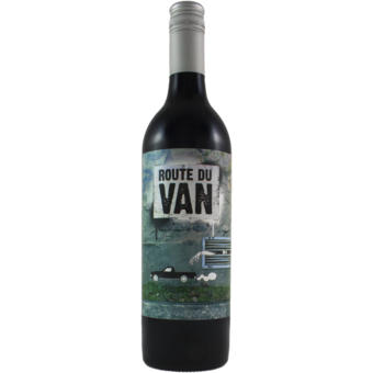 Bottle shot for 2013 Route Du Van 'street Art' Shiraz/Cabernet