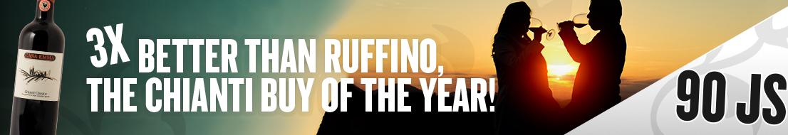 3x better than Ruffino, the Chianti Buy of the Year!