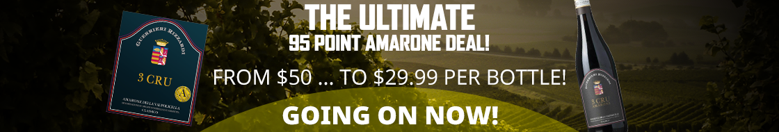 A stunning 95 Point Amarone ... for $29.99!