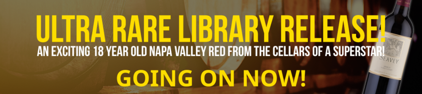 Ultra Rare Library Release! An exciting 18 year old Napa Valley red from the cellars of a superstar!